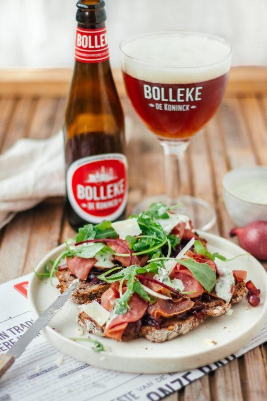 Broodje Filet d'Anvers met fris Bolleke