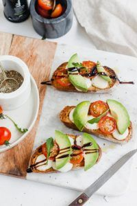 Avocado Caprese Crostini