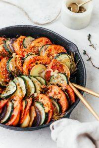 Tian van aardappel en zomergroenten