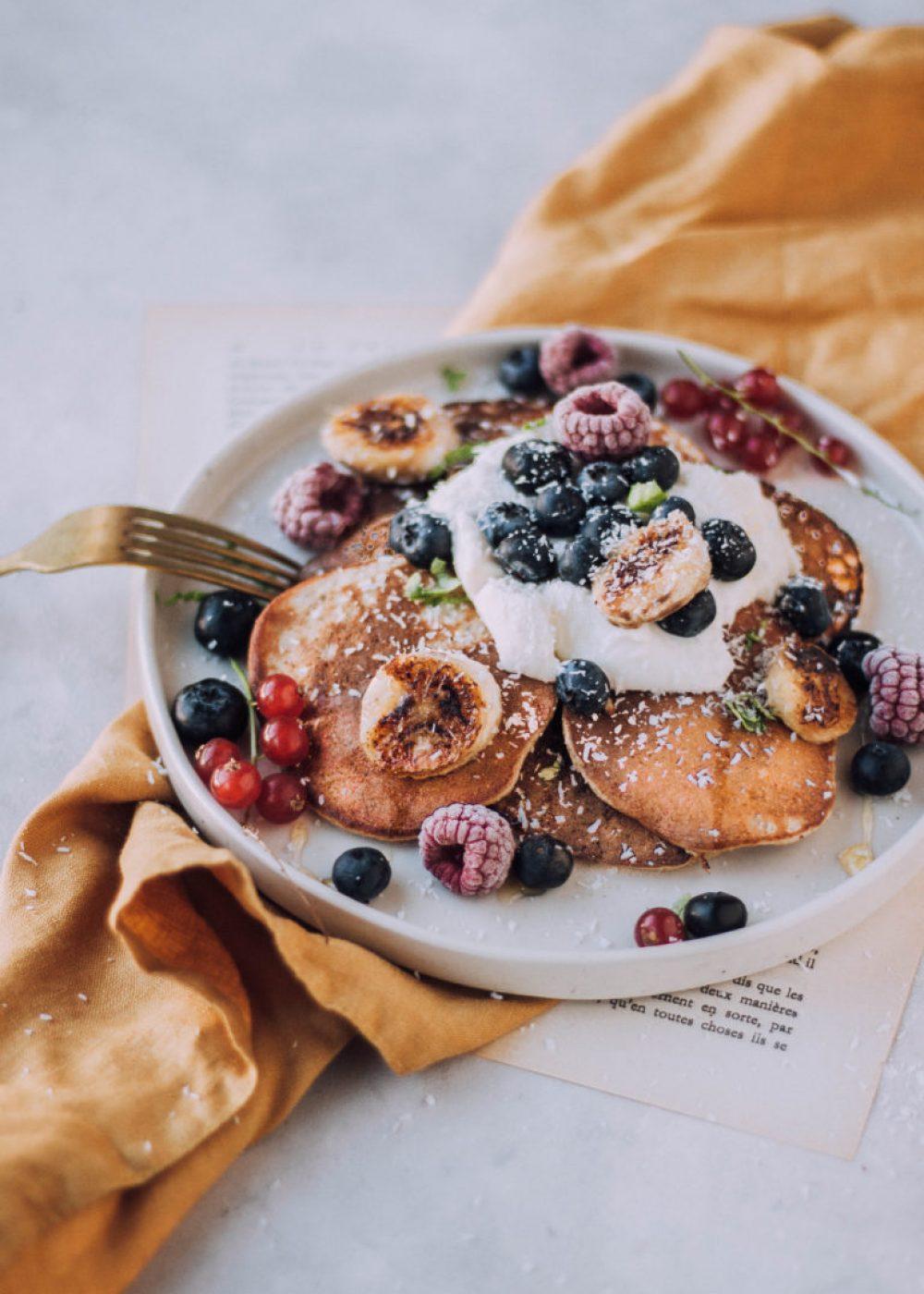 Stevia pannenkoeken met gebakken banaan