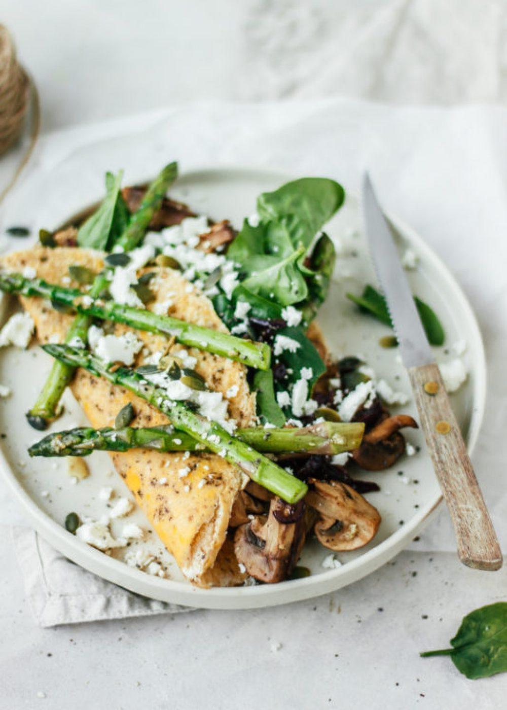 Lente omelet met asperges
