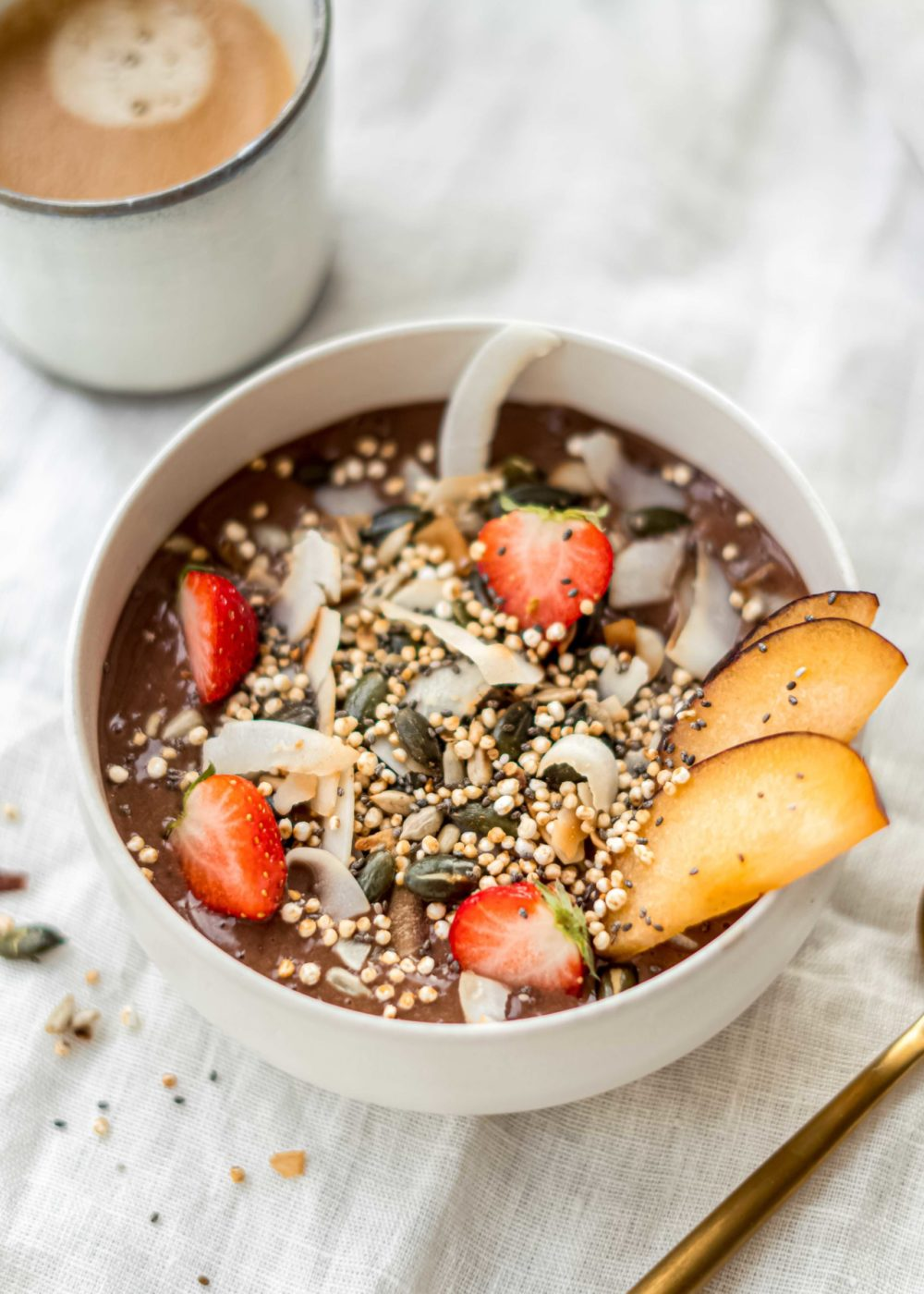 Chocolade smoothie Bowl