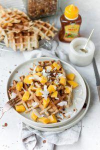 Honingwafels met mango