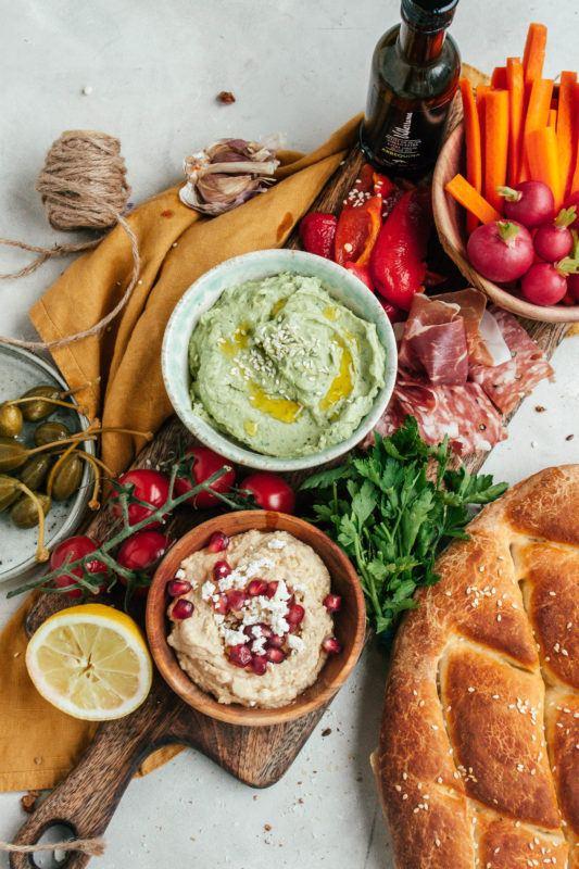 New year, new me: Hummus sharing plate