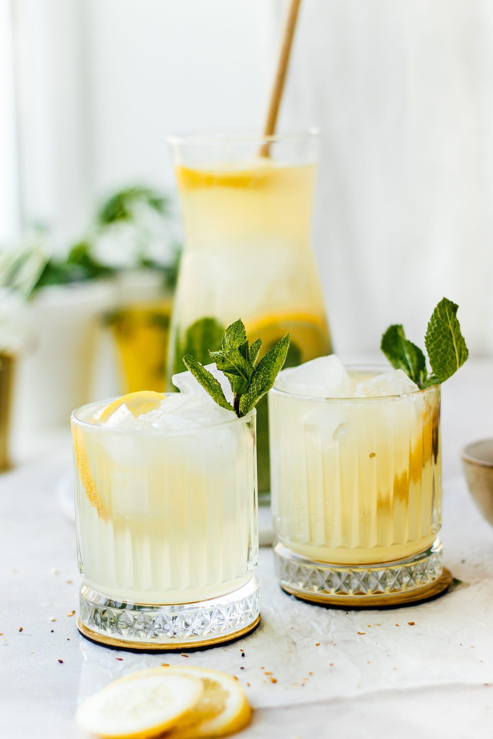Frisse gember munt limonade