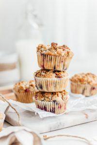 Cruesli muffins met rood fruit