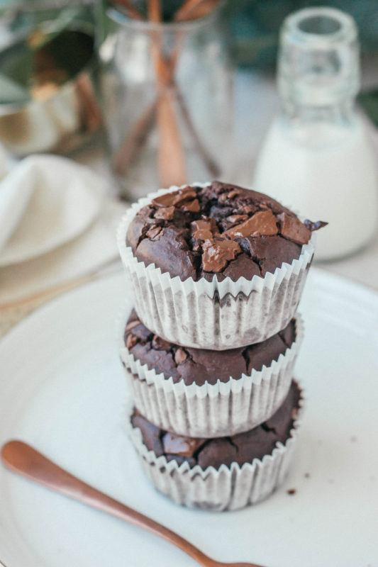 Gezonde chocolade muffins, met geheim ingredient