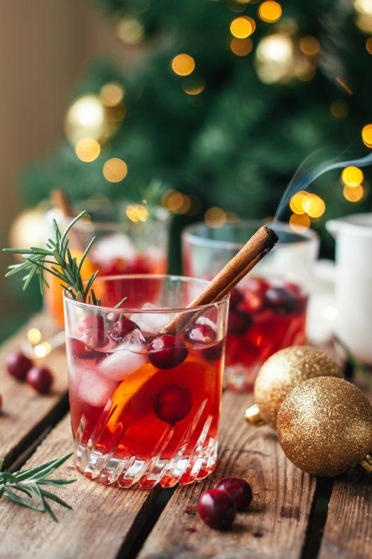 Christmas is coming: Cranberry whisky met rozemarijn