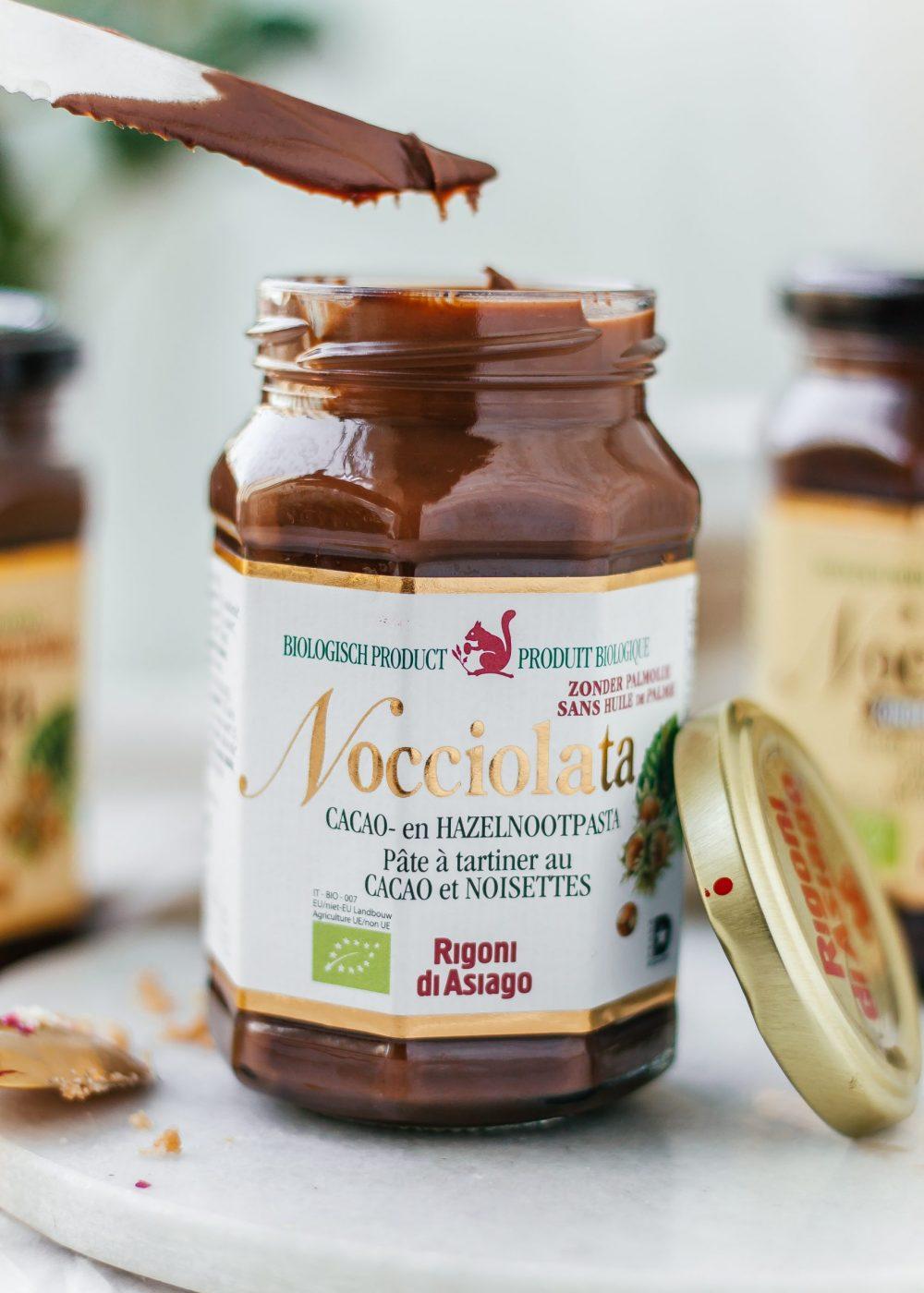 Nocciolata: 100 % Biologisch, 100 % Italiaans, 0% palmolie