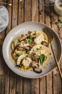 Ravioli met champignons & truffel