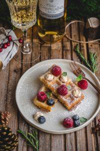 Brusselse wafel met mascarpone en framboos