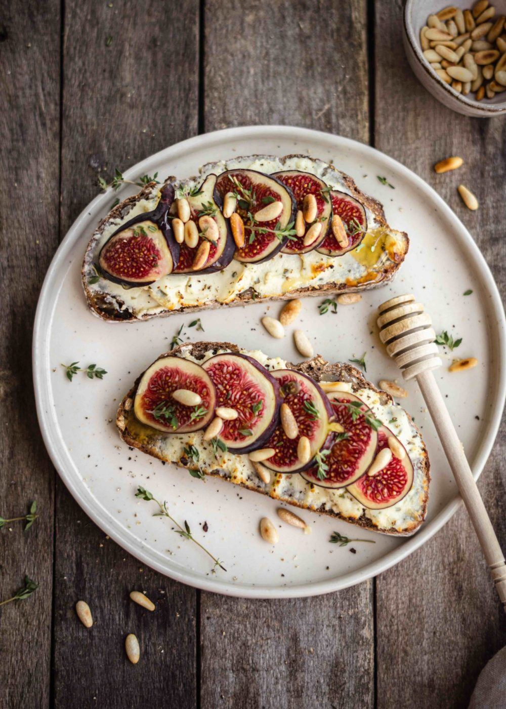 Toast met Boursin en vijgen