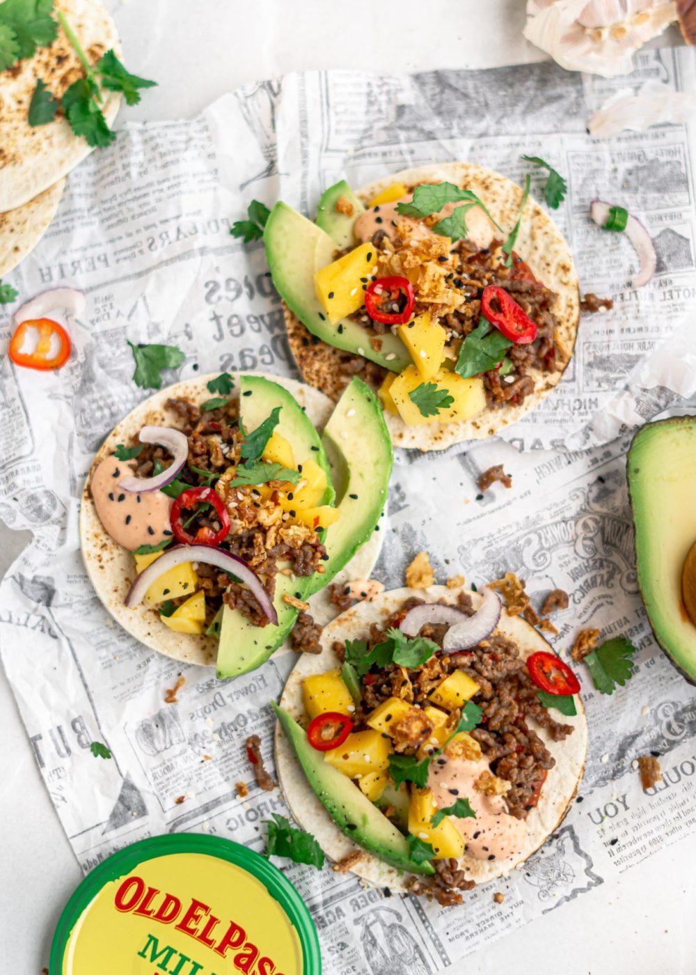 Mexicaanse taco's met een Aziatische twist